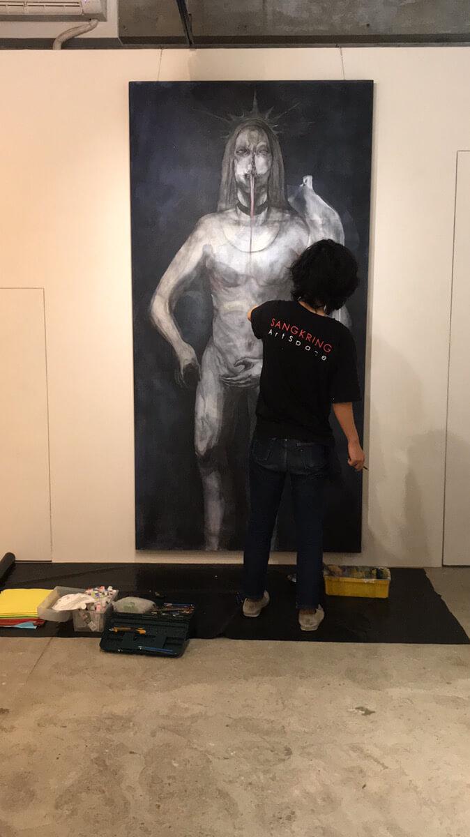 安藤圭汰さんによる ライブドローイング